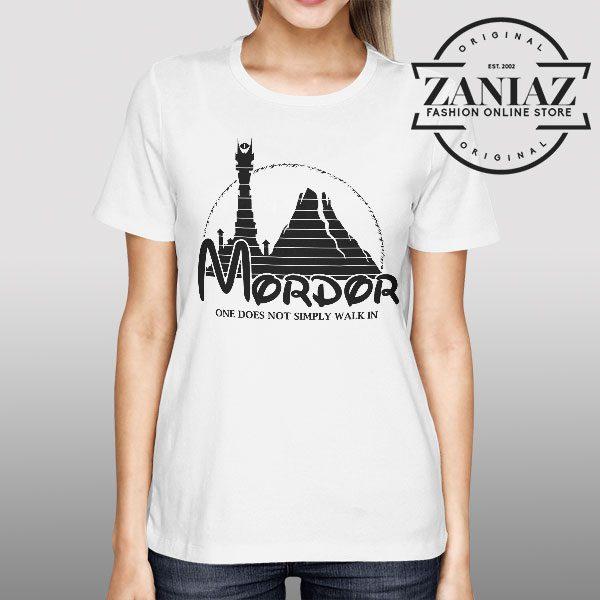 Buy Tshirt Mordor University Lord of the Rings Womens