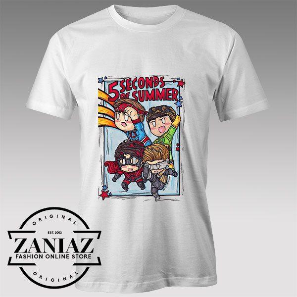 Tshirt 5SOS Avengers Cartoon