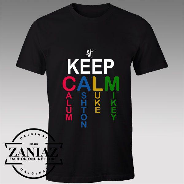 Tshirt 5sos Keep Calm Wear