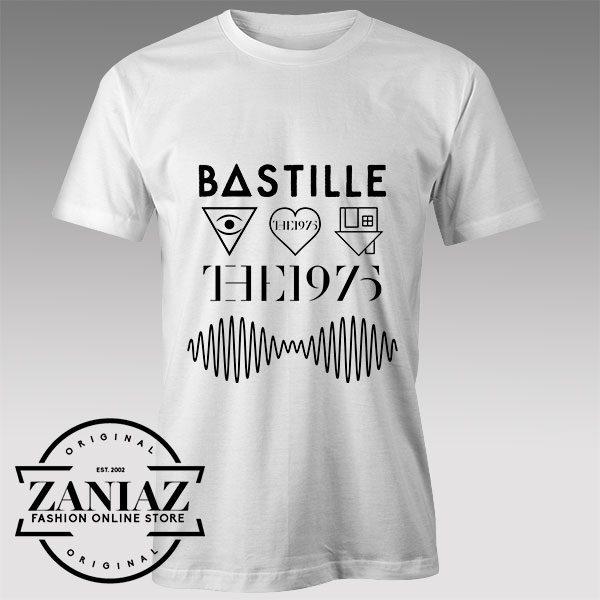 Tshirt Bastille, The Neighbourhood, The 1975, Arctic Monkeys
