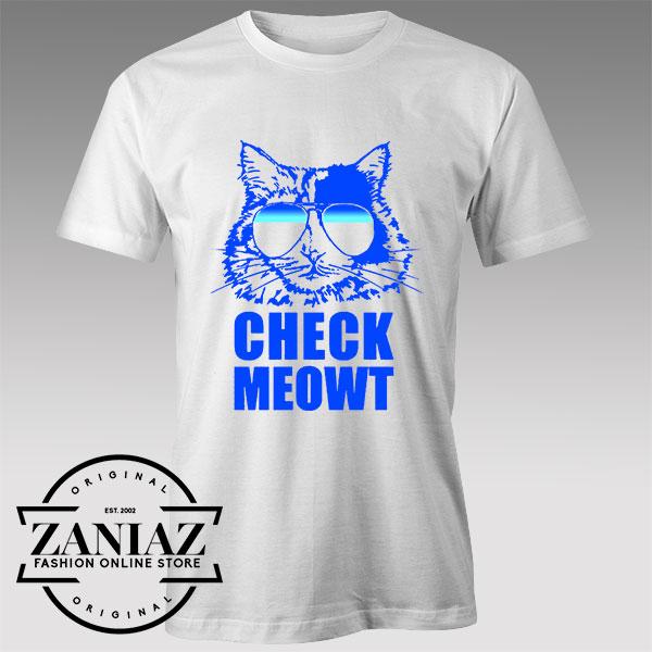Tshirt Check Meowt Cat Sunglasses