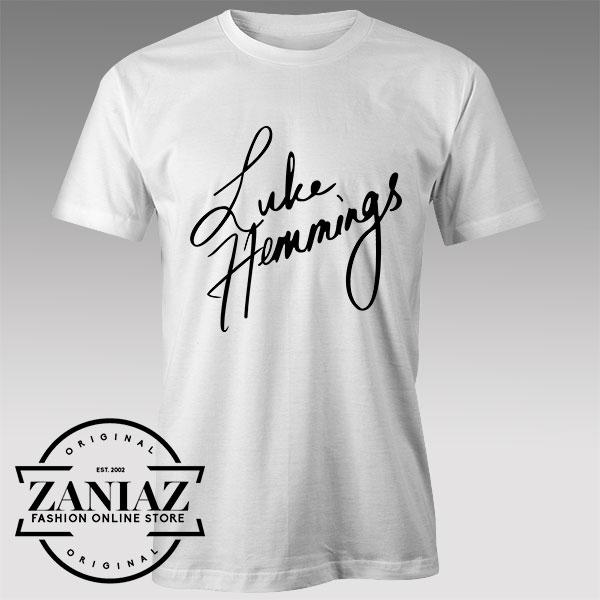Tshirt Luke Hemmings Signature