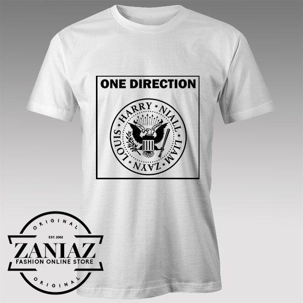 Tshirt One Direction Ramones Logo