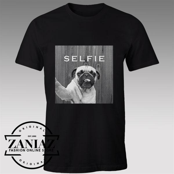 Tshirt Pug Dog selfie