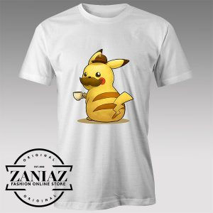 Tshirt Pokemon Pikachu Coffee