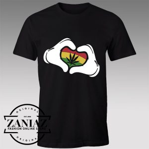 Buy Tshirt Mickey Mouse Hands Rasta Tshirts Womens Tshirts Mens