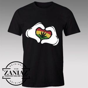 Buy Tshirt Mickey Mouse Hands Rasta Tshirts Womens Tshirts Mens