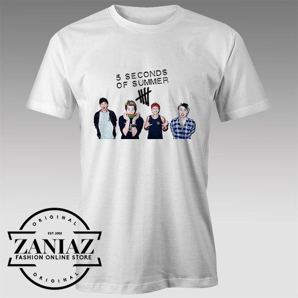 Tshirt LiveSOS 5 Seconds Of summer Tshirts Womens Tshirts Mens