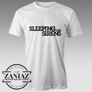 Tshirt Sleeping With Sirens Typo Tshirts Womens Tshirts Mens