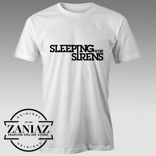 Tshirt Sleeping With Sirens Typo Tshirts Womens Tshirts Mens
