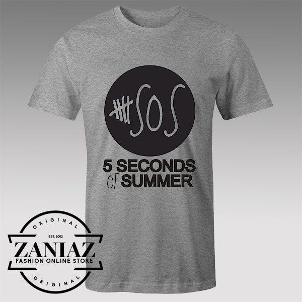Buy Tshirt 5 Seconds of Summer Black Logo Tshirts Womens Tshirts Mens