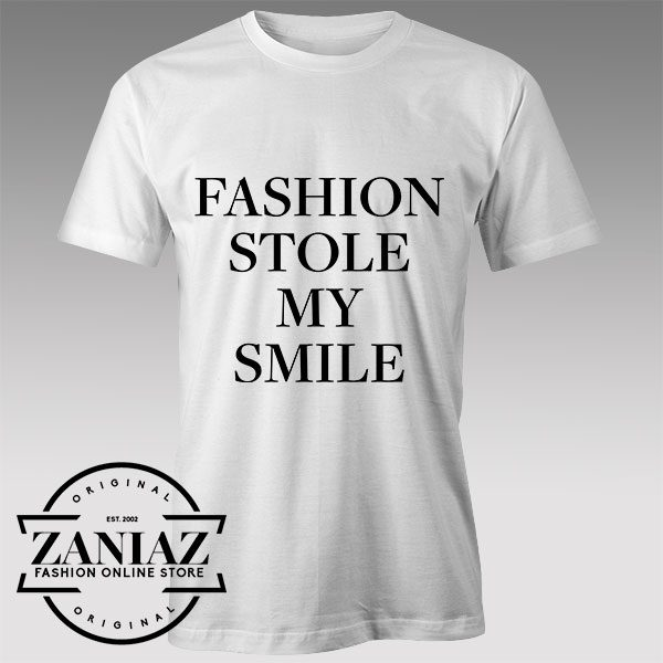 Tshirt Fashion Stole My Smile Custom Tshirts Womens Tshirts Mens | ZANIAZ