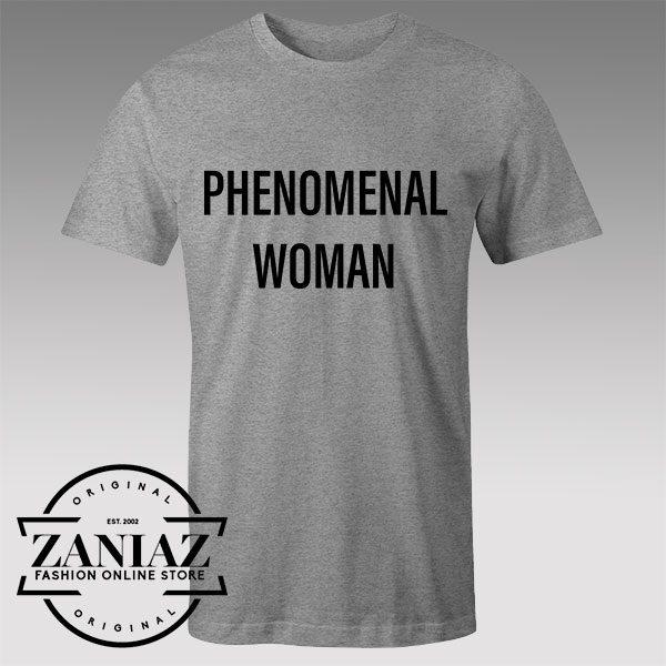 Tshirt Phenomenal Woman Custom Tshirts Womens Tshirts Mens | ZANIAZ