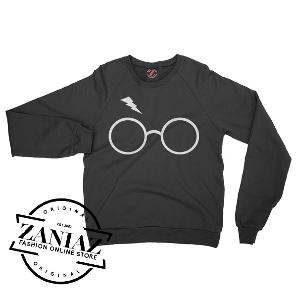 Sweatshirt Harry Potter Glasses Sweater Mens Womens Adult Size S-3XL