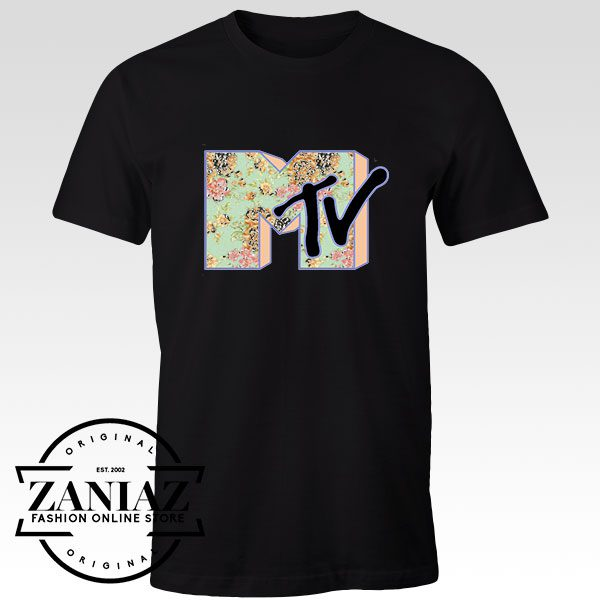 Tshirt MTV Rose Logo Custom Tees Womens and Mens Size S-3XL