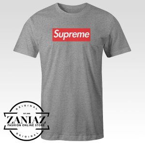 Tshirt Supreme Logo Red Custom Tees Womens and Mens Size S-3XL
