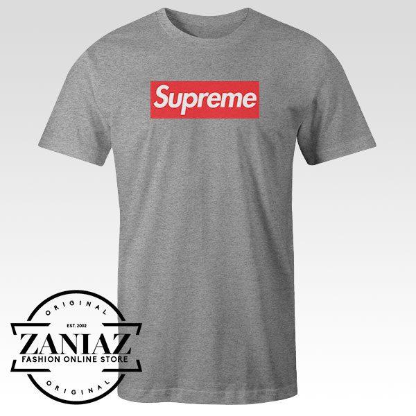 Tshirt Supreme Logo Red Custom Tees Womens and Mens Size S-3XL