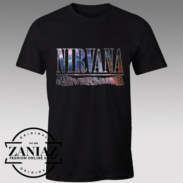 Tshirt Nirvana Nevermind Nebula Custom Tees Womens and Mens