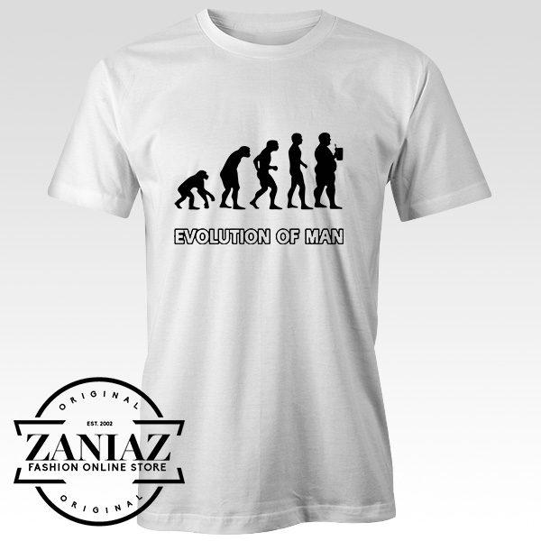 Buy Tshirt Evolution Man Beer Size S-3XL