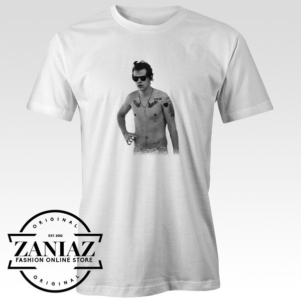 Buy Tshirt One Direction Harry Style Tattoo Size S-3XL