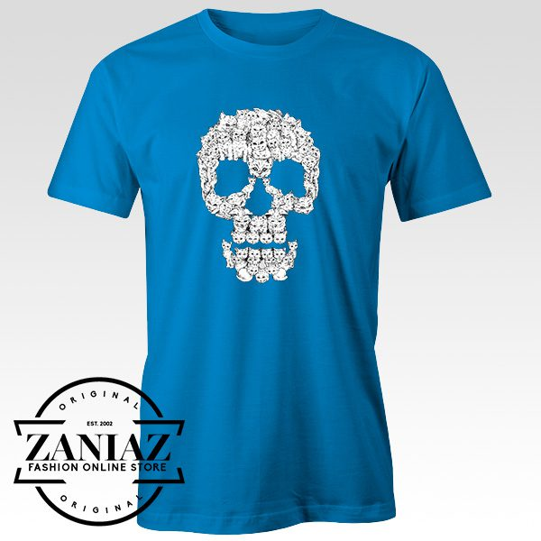 Buy Tshirt Skulls Are For Pussies Twhite Size S-3XL