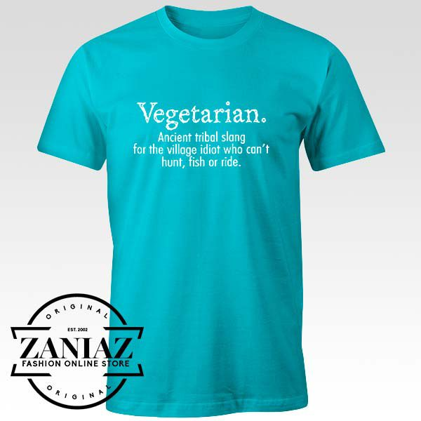 Buy Tshirt Vegetarian Cant Hunt Fish Funny Size S-3XL