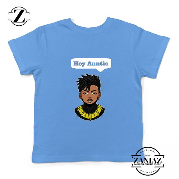 Tshirt Kids Erik Killmonger Hey Auntie Black Panther