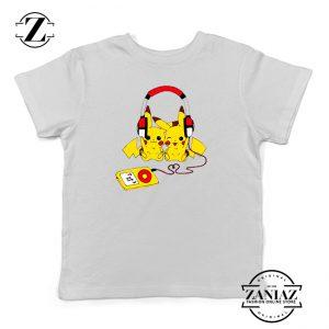 Tshirt Kids Pikachu Love Music