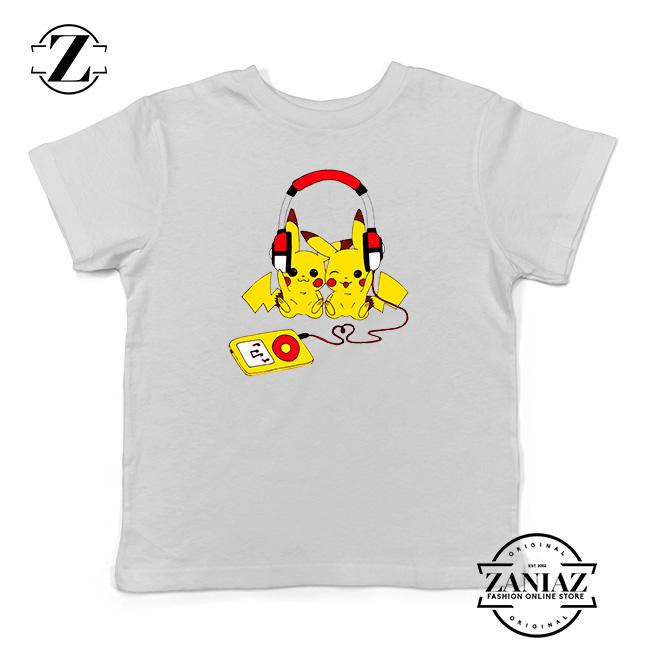31c2f398dda0 Tshirt Kids Pikachu Love Music - Cheap Kids Clothes
