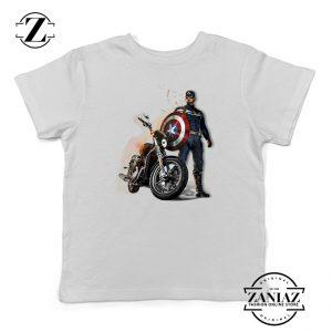 Buy Tshirt Kids Captain America Motorcycle