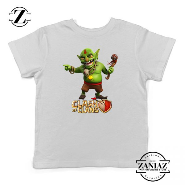 Buy Tshirt Kids Clash Of Clans Goblin King