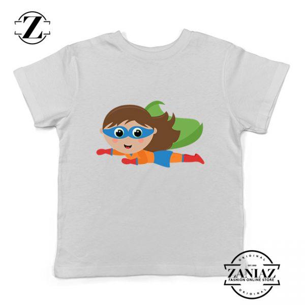 Buy Tshirt Kids Flying Superhero Girl