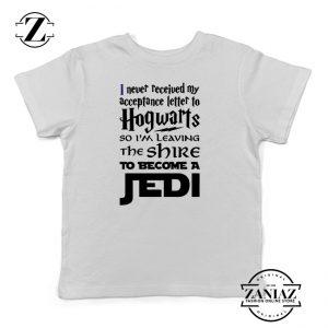 Buy Tshirt Kids Hogwarts Become Jedi