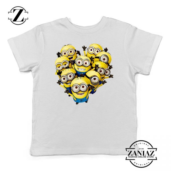 Buy Tshirt Kids Minion Love and happy