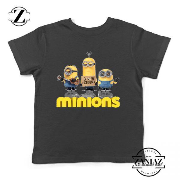 Buy Tshirt Kids Minions Stupid