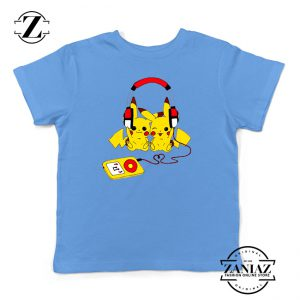 Buy Tshirt Kids Pikachu Love Music