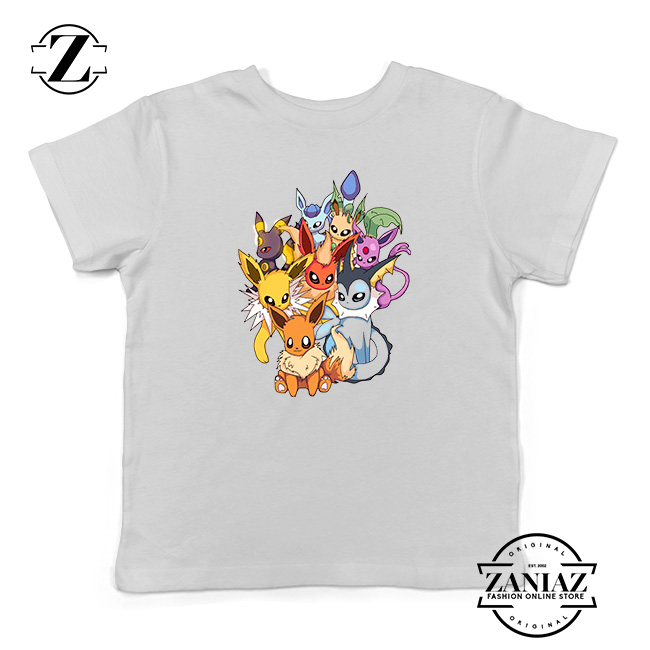 Buy Tshirt Kids Pokemon Eevee Evolution