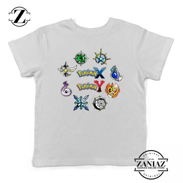 Buy Tshirt Kids Pokemon x y Badges