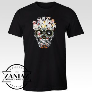 Buy Custom Tshirt Pit Bull Skull For Man And Woman