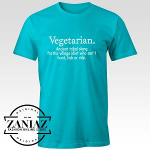 Buy Custom Tshirt Vegetarian Cant Hunt Fish Funny
