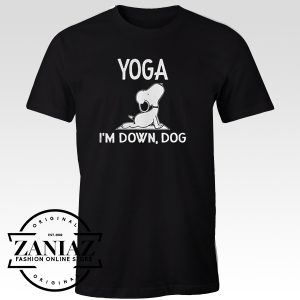 Tshirt Snoopy Yoga I'm Down Dog