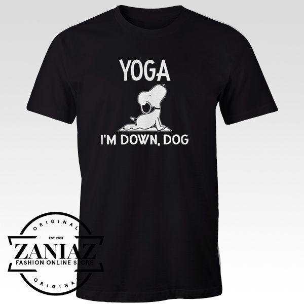 Tshirt Snoopy Yoga I'm Down Dog