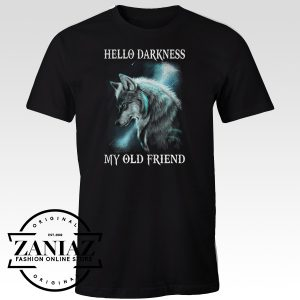 Buy Tshirt Wolf Hello Darkness My Old Friend