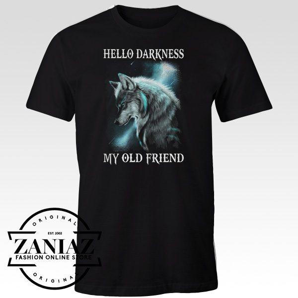 Buy Tshirt Wolf Hello Darkness My Old Friend