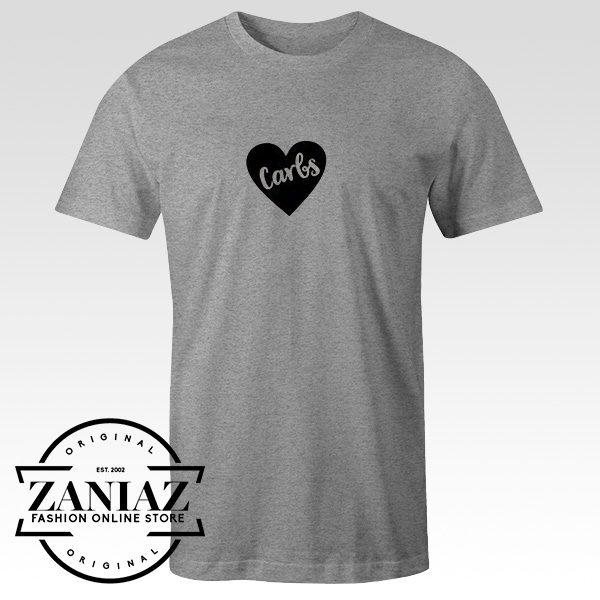 Cheap Tee Shirt I Love Carbs Women's Tshirt