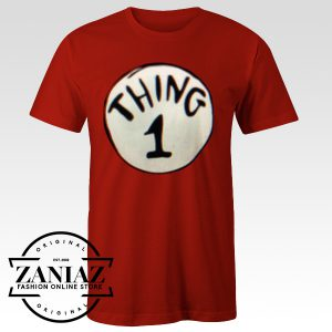 Custom Deluxe Thing One Adult Tshirt
