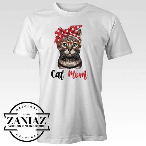 Custom Tshirt Cat Mom Bandana