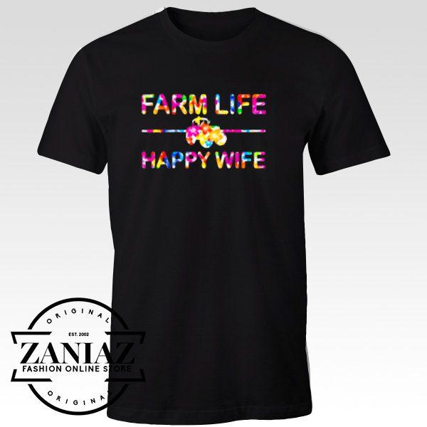 Custom Tshirt Farm Life Happy Wife