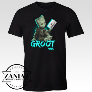 Custom Tshirt Groot Mix tape