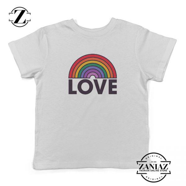 Custom Tshirt Kids LOVE Rainbow